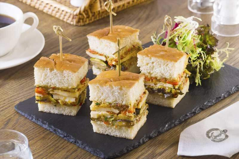 Haloumi Club Sandwich